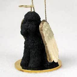 Angel Ornament Poodle-Black