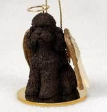 Angel Ornament Poodle-Brown Sport Cut
