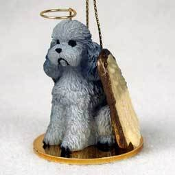 Angel Ornament Poodle-Gray