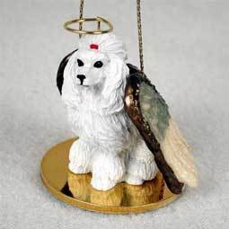 Angel Ornament Poodle-White