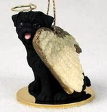 Angel Ornament Pug-Black