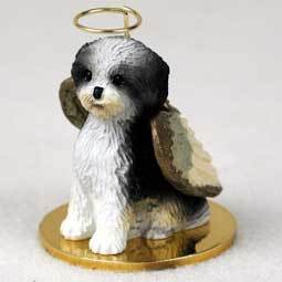 Angel Ornament Shih Tzu BW Sport