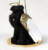 Angel Ornament Schnauzer-Black-U