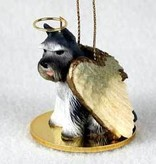 Angel Ornament Schnauzer-Gray