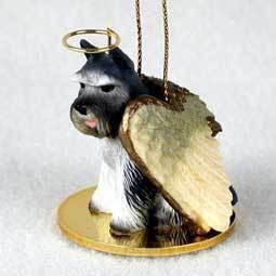 Angel Ornament Schnauzer-Gray
