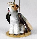 Angel Ornament Wire Fox Terrier