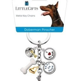 Little Gifts Key Chain Doberman Pincher