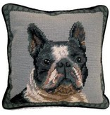 "1o"" Pillow Boston Terrier"