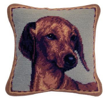 "1o"" Pillow Dachshund Red"