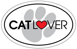 Cat Lover Oval Magnet