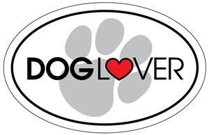 Dog Lover Oval Magnet