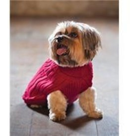 XS-Red Turtleneck Sweater