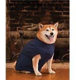 S-Blue Turtleneck Sweater