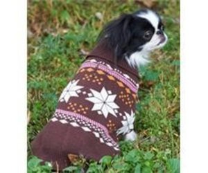 84c8ffeecf4f M-SNOWFLAKE DOG SWEATER BROWN PINK - Captivating Canines