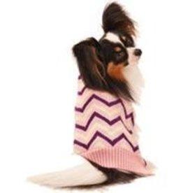 XS Pink Chevron Sweater