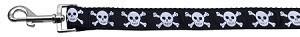 Black Skulls Nylon Leash 1 wide 4ft Leash