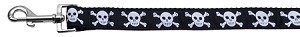 Black Skulls Nylon Leash 1 wide 6ft Leash
