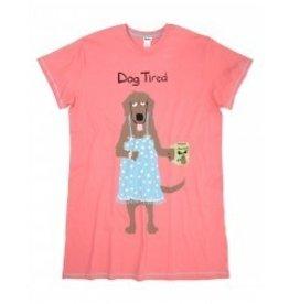 Sleepshirt-Dog Tired (Pink)