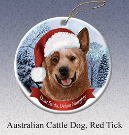 Pet Gifts Round Ornament Australian Cattle Dog