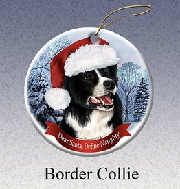 Pet Gifts Round Ornament Border Collie