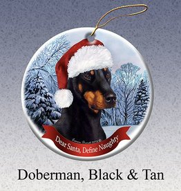 Pet Gifts Round Ornament Doberman