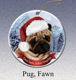 Pet Gifts Round Ornament Pug