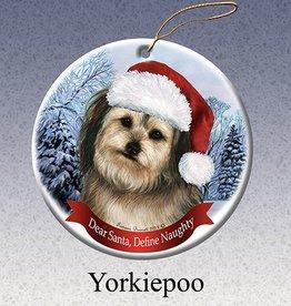 Pet Gifts Round Ornament Yorkiepoo