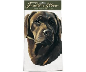 Chocolate Lab Dish Towel Captivating Canines