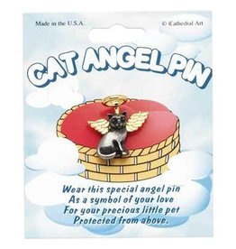 Cat Angel Pin