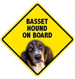 Pet On Board Sign Basset Hound
