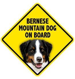Pet On Board Sign Bernese Mountain Dog