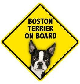 Pet On Board Sign Boston Terrier