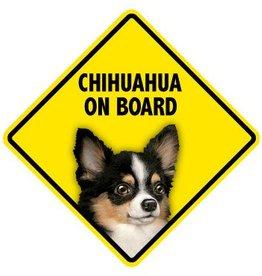 Pet On Board Sign Chihuahua Long Hair
