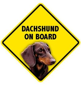 Pet On Board Sign Dachshund