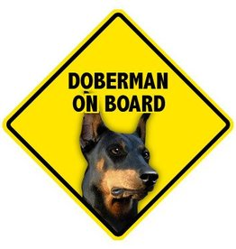Pet On Board Sign Doberman Pincher