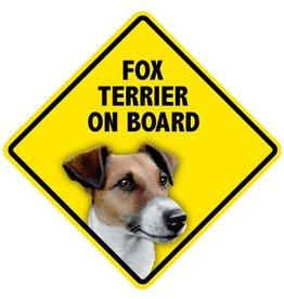 Pet On Board Sign Fox Terrier