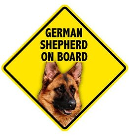 Pet On Board Sign German Shepherd