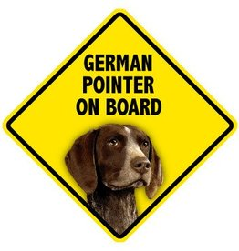 Pet On Board Sign German Shorthair Pointer