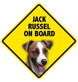 Pet On Board Sign Jack Russell Terrier
