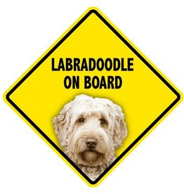 Pet On Board Sign Labradoodle