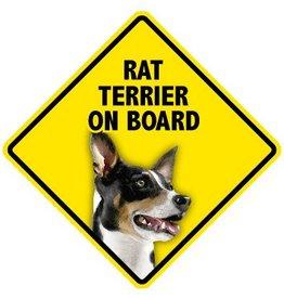 Pet On Board Sign Rat Terrier