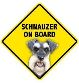 Pet On Board Sign Schnauzer