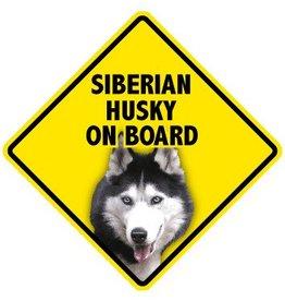 Pet On Board Sign Siberian Husky