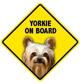 Pet On Board Sign Yorkshire Terrier