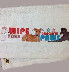 Greyhound Paw/Slobber Towel