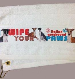 Italian Greyhound Paw/Slobber Towel