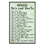 DOGGIE DOS AND DON'TS SIGN