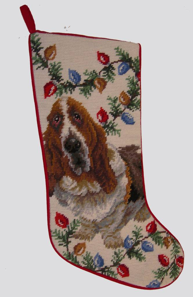 Christmas Stocking Basset Hound