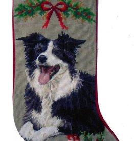 Christmas Stocking Border Collie