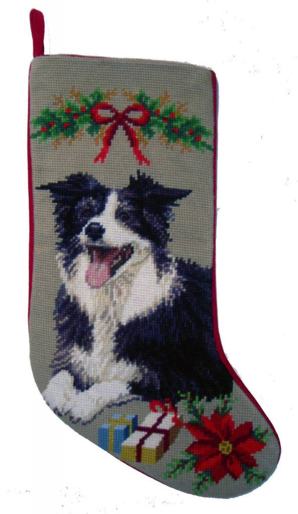 Christmas Stocking Border Collie